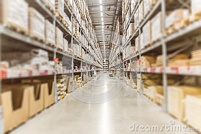 Large Inventory. Warehouse Goods Stock for Logistic shipping