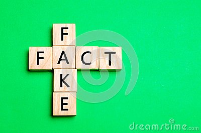 Fact or Fake concept, in conception of news and information