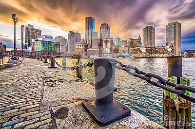 Boston, Massachusetts, USA Harbor and Skyline