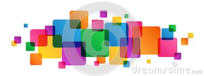 Abstract overlapping colorful squares background