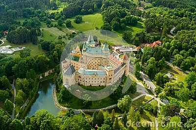 Slovakia Castle from Bojnice in the summer time