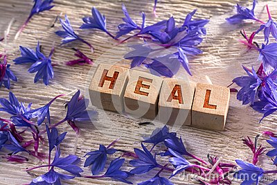Heal on the wooden cubes