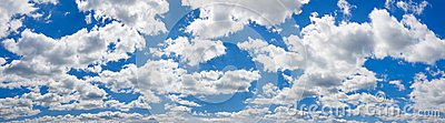 Blue sky with white clouds landscape panorama