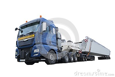 stock image of heavy transport truck