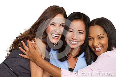 stock image of diverse group of business women.