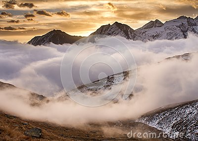 Sunrise in Gran Paradiso National Park Italy