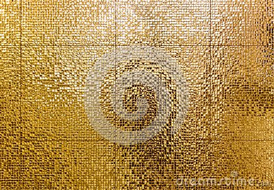 Luxury gold mosaic tiles background for bathroom or toilette tex