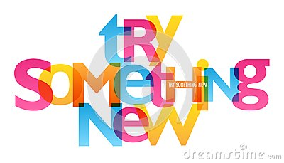 TRY SOMETHING NEW typography poster
