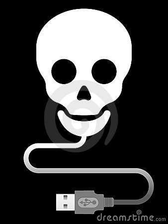 Skull with usb cable