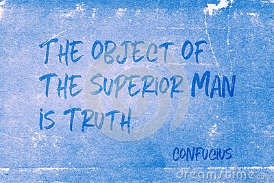 Object is truth Confucius