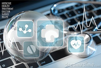 stock image of healthcare and medicine