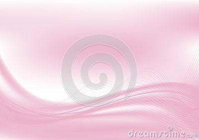 Wave pink abstract background with copy space, vector illustration EPS10