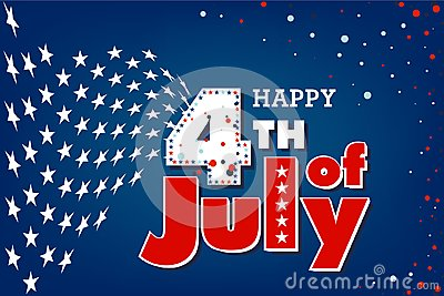 Happy 4th of July US independence day
