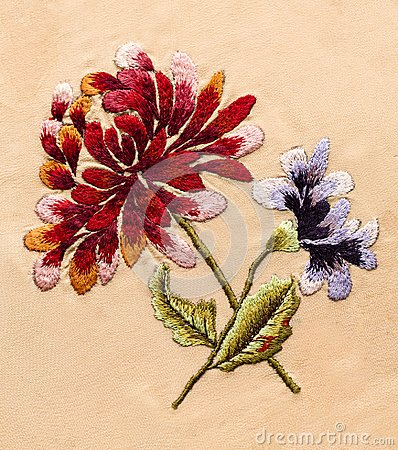 Embroidery, folk arts and crafts, handmade