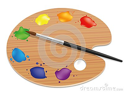 Palette Artists Painting Wood Board Colors