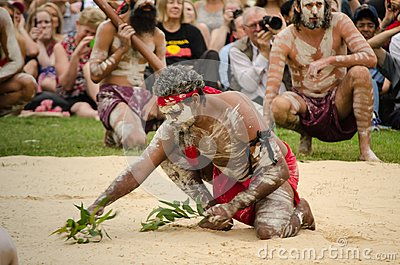 An ancient custom among Indigenous Australians `WugulOra` ceremony meaning 'One Mob'