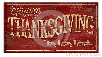 Happy Thanksgiving Wood Plaque Live Love Laugh
