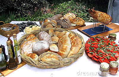 Lunchtime spread