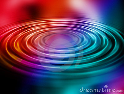 Rainbow water ripples