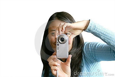 Teen with camera-phone