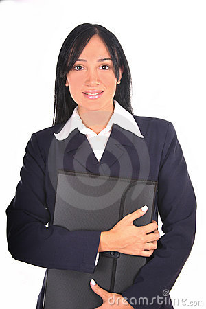 Businesswoman holding a folder