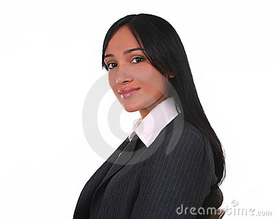 Businesswoman with a warm look