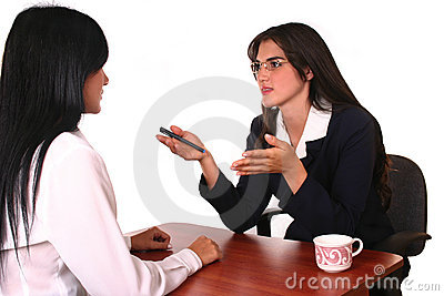 Businesswomen negotiation