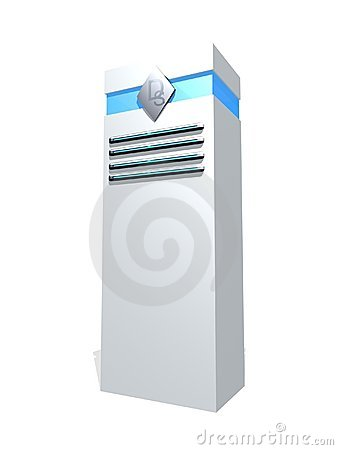 White server tower