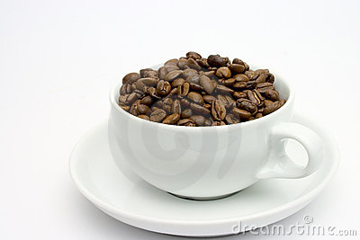 Cup of coffee beans 1