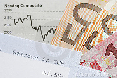 Financial Chart, Account statement and Euros