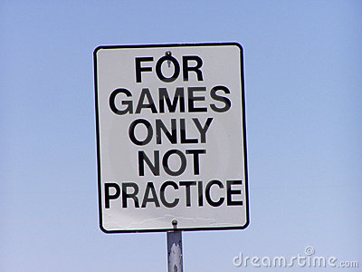 For games only sign