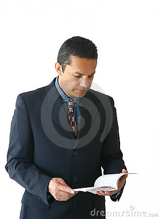Business man reading - je
