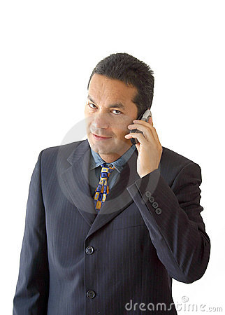 Business man on the phone - je