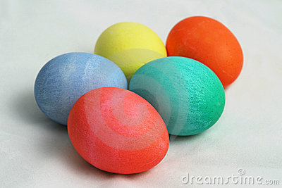 Five Colored Easter Eggs 1