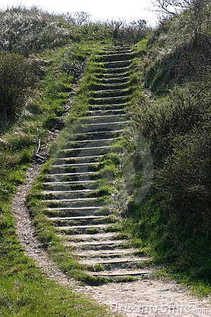 Stairs in the dunes