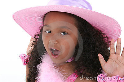 Beautiful Six Year Old Girl In Pink Hat