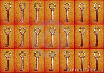Background with keys