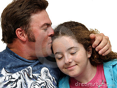 Father Kissing Daughter