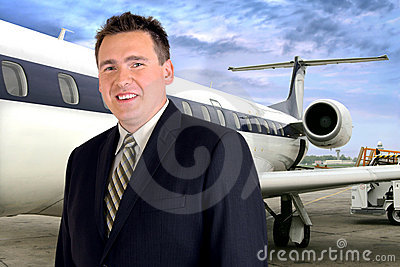 Airplane Travel - Businessman