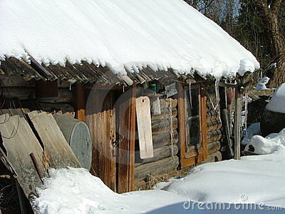 Old sauna building (Siberia)