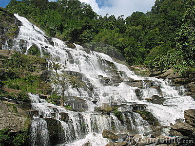 Mae Ya Waterfall in Chiang Mai, Thailand