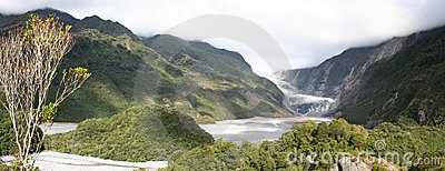 Panorama - Franz Josef glacier, New Zealand