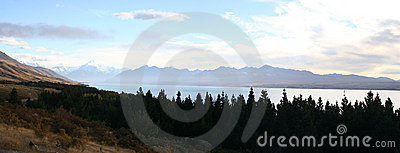 Panorama - Along the road to Mt Cook, New Zealand