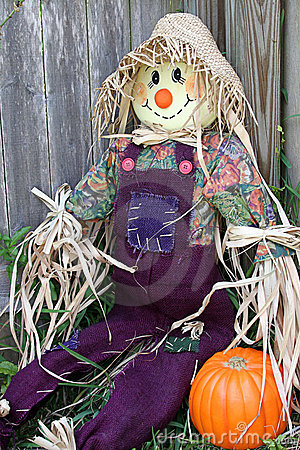 Scarecrow In Garden (angled)