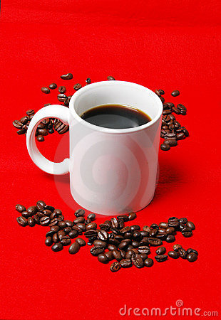 Coffee cup with beans 2