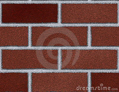 Brick Wall Seamless Background Large Dark Red