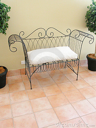 Love seat on a balcony
