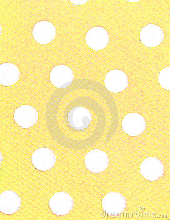 White dots, yellow background