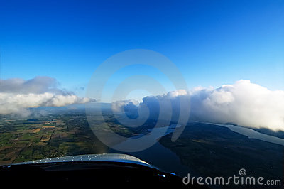 Flying With The Clouds