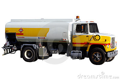 Isolated Airport Gas Truck